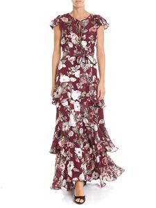 Alice + Olivia - Burgundy Jenny floral printed long dress