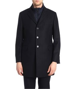 Fay - Blue wool and cashmere coat