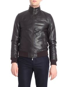 Orciani - Brown padded leather jacket