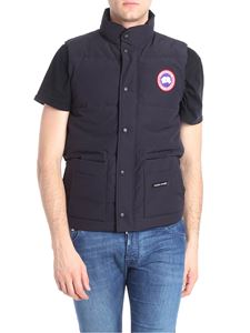 Canada Goose - Blue waistcoat with pockets and branded patches