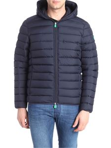 Save the duck - Blue down jacket with chest pocket