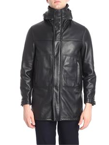 Orciani - Leather jacket with drawstring