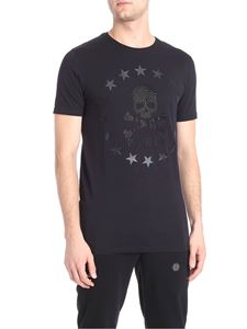 Philipp Plein - Skull and stars printed black T-shirt