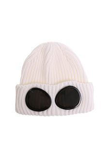 CP Company - Cream color Glasses Knitted cap