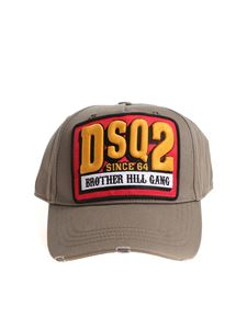 Dsquared2 - Green 3D embroidered logo basketball cap