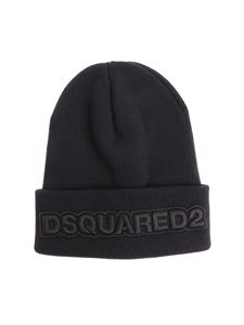 Dsquared2 - Black branded beanie
