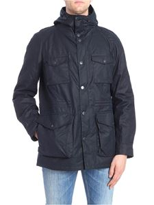 Barbour - Dark blue Coll hooded jacket