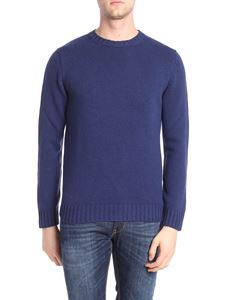Kangra Cashmere - Blue knitted crewneck pullover