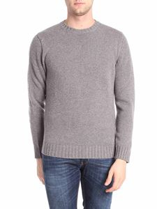 Kangra Cashmere - Gray knitted crewneck pullover