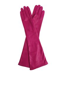 N° 21 - Purple leather long gloves