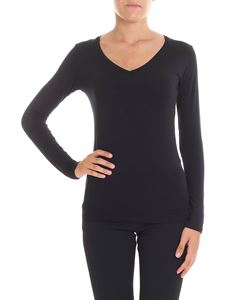 Majestic Filatures - Amalie black long sleeve t-shirt