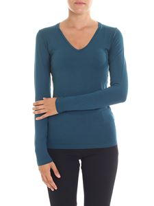Majestic Filatures - Amalie blue-green color long sleeves t-shirt
