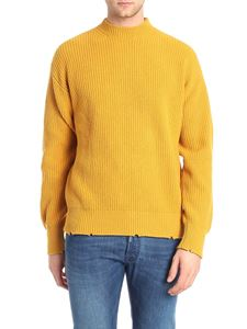 MSGM - Ocher yellow fisherman ribbed pullover