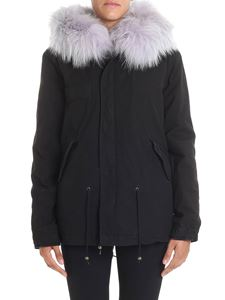 Mr&Mrs Italy - Black parka with fur insert