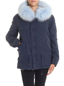 Mr&Mrs Italy - Navy blue parka with fur insert