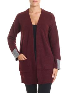 360 Cashmere - Burgundy and grey Brito cardigan