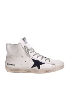 Golden Goose Deluxe Brand - White Francy sneakers with blue star