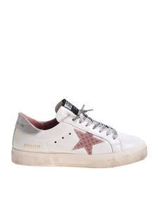 Golden Goose Deluxe Brand - May white star effect 3D sneakers