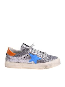 Golden Goose Deluxe Brand - May sneakers with gray glitter