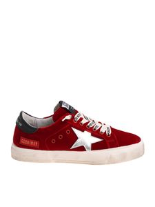 Golden Goose Deluxe Brand - May red silver star sneakers