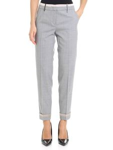 Peserico - Gray trousers with pink silk inserts