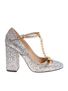N° 21 - Silver glitter T-strap shoes