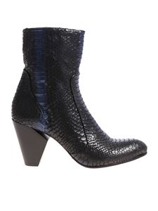 Strategia - Black and blue ankle boots