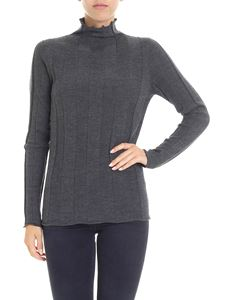 Peserico - Gray high-neck collar sweater