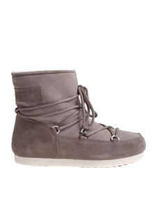 MOON BOOT - Grey F. Side Low Suede Moon Boots