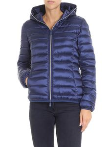 Save the duck - Blue waisted padded jacket