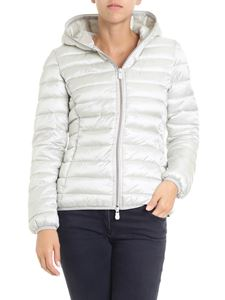 Save the duck - Ice white waisted padded jacket