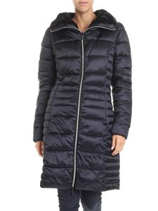 Save the duck - Black high collar long padded jacket