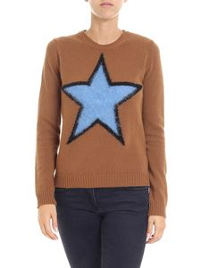 N° 21 - Brown crewneck pullover with star