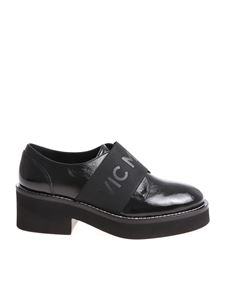 Vic Matiè - Black Derby shoes with elastic insert