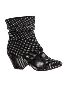 Vic Matiè - Black ankle boot with rhinestones
