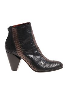 Strategia - Black and bronze ankle boots