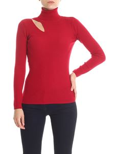 Parosh - High neck sweater with cut out