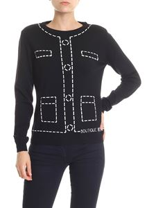 Moschino Boutique - Black white inlay pullover