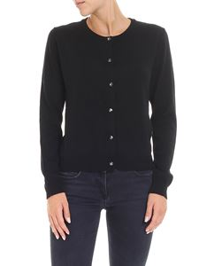Moschino Boutique - Black cardigan with jeweled buttons