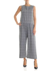 Shirtaporter - Gray check cross over jumpsuit