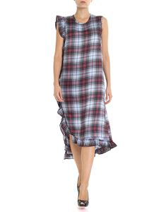 Shirtaporter - Long tartan printed dress