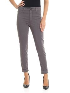J Brand - Gray Anja trousers with turn-ups