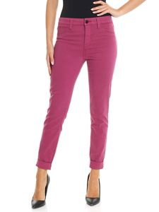 J Brand - Anja cyclamen trousers with turn-ups