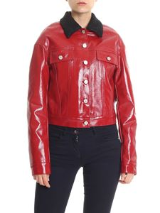 Pinko Uniqueness - Red padded patent leather Solarium jacket