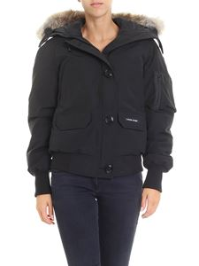 Canada Goose - Black Ladies bomber jacket with knitted edges