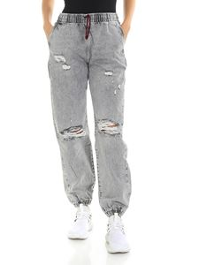 Alexander Wang - Grey jeans with elastic edges