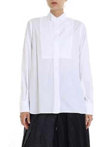 Sacai - White pleated shirt