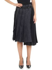 Sacai - Wool houndstooth Wrap skirt