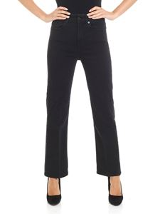 7 For All Mankind - High waisted black jeans