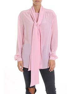 Dondup - Pink silk shirt with bow